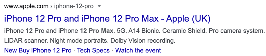 Product Description Google Snippet
